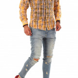 Camasa tip Zara - camasa barbati - camasa slim - camasa fashion - cod 8671, Marime: S, M, L, XL, XXL, Culoare: Din imagine, Maneca lunga