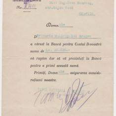 BANCA NATIONALA a ROMANIEI scrisoare 1941 filiala Oravita - Hartie cu Antet