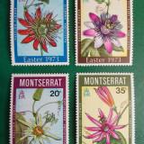 Montserrat 1973 8 Euro flori supratipar pe spate - serie nestampilata MNH - Timbre straine
