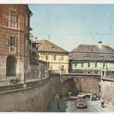 Bnk cp Sibiu - Podul Minciunilor - uzata - Carte Postala Transilvania dupa 1918, Circulata, Printata