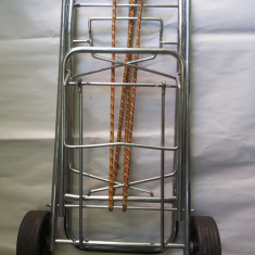 Carucior metalic, german, troler, pliabil, pentru transportat, valiza, greutati, etc - Carucior cumparaturi