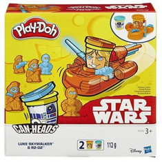 Jucarie Play-Doh Star Wars Can-Heads Luke Skywalker And R2-D2 Play Set Hasbro