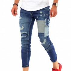 Blugi fashion - conici - blugi barbati - COLECTIE NOUA - RJ5008 G6, Marime: 30, 31, 32, 33, 34, 36, Culoare: Din imagine, Slim Fit