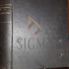 MIHAI G. RARINCESCU - NOTIUNI DE DREPT CIVIL [ INTRODUCERE, DESPRE LEGI, TEORIA ACTELOR JURIDICE, PERSOANE, BUNURI ], 1940 - Carte Drept comercial
