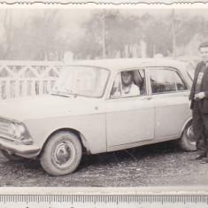 Bnk foto - masini veci - Moskvich 412, Alb-Negru, Transporturi, Romania de la 1950