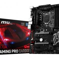 Placa de baza MSI Socket LGA1151, Z170A GAMING PRO CARBON, Intel Z170, 4*DDR4 3600(OC)/2133MHz, DVI/HDMI, 3*PCIEx16/4*PCIEx1/1*PCI-E Gen3 bulk, Altul, ATX