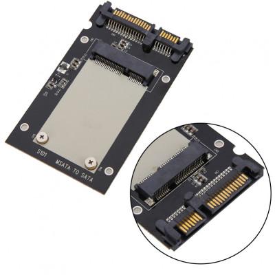 """Adaptor SSD mSATA la SATA 3 2.5"""" pentru ssd-uri mSATA de 50mm mini PCI-E foto"""