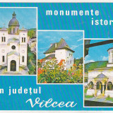 Bnk cp Jud Valcea - Monumente istorice - uzata - marca fixa - Carte Postala Oltenia dupa 1918, Necirculata, Printata