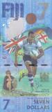 Bancnota Fiji 7 Dolari (2017) - PNew UNC ( comemorativa - J.O. - rugby in 7 )