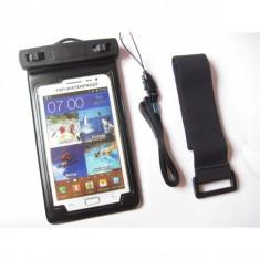 Acum poti face poze si sub apa ! husa subacvatica pentru Samsung, Iphone, etc - Husa Telefon Apple, iPhone 5/5S/SE, Negru