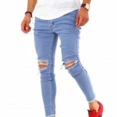 Blugi fashion - conici - blugi barbati - COLECTIE NOUA - KB062 H8, Marime: 31, 32, 33, 36, Culoare: Din imagine, Slim Fit