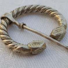 Fibula argint TUAREGA tribala 1900 SPLENDIDA executata manual vintage de Efect