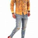 Camasa tip Zara - camasa barbati - camasa slim - camasa fashion - cod 8672, Marime: S, M, L, XL, XXL, Culoare: Din imagine, Maneca lunga