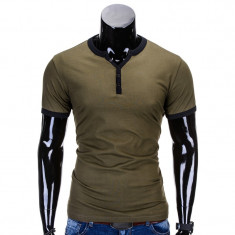 Tricou barbati s651 verde, Marime: S, M, L, XL, XXL, Culoare: Din imagine, Maneca scurta, Bumbac
