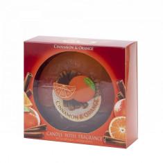 Lumanare cu aroma de Scortisoara si Portocale, diametru 130 mm - Lumanare parfumata