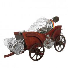 Minibar caleasca din lemn CDT-05-OSH - Suport sticla vin