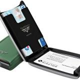 Portofel din aluminiu pentru carduri Razor de la Tru Virtu - Green Hunt - Portofel Barbati, Port card
