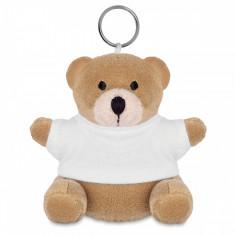Breloc ursulet din plus cu tricou alb