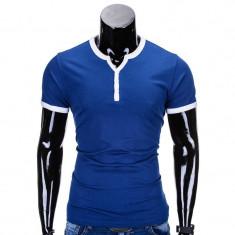 Tricou barbati s651 albastru inchis, Marime: S, M, L, XL, XXL, Culoare: Din imagine, Maneca scurta, Bumbac