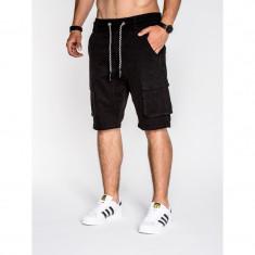 Pantaloni scurti barbati P527 negru - Bermude barbati, Marime: S, M, L, XL, XXL, Culoare: Din imagine, Bumbac