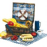 Cos picnic pentru 2 persoane Central Park - Vesela camping Alexer, Set vesela