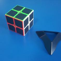 Cub Rubik 2x2x2 TFS Carbon Fiber 50mm - Jocuri Logica si inteligenta