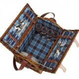 Cos picnic pentru 4 persoane Summertime - Vesela camping Alexer, Set vesela