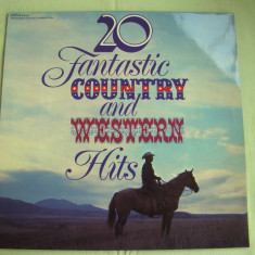 20 FANTASTIC COUNTRY AND WESTERN HITS - Vinil LP Original West Germany - Muzica Country