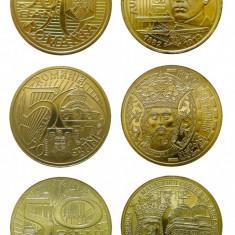 ROMANIA, 50 BANI UNC, LOT COMPLET 2010-2011-2012-2014-2015-2016 - Moneda Romania, Alama