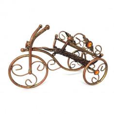 Suport pentru vin din fier forjat bronz antichizat - bicicleta - Pipa