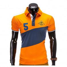 Tricou polo barbati S506 Orange - Tricou barbati, Marime: S, M, L, Maneca scurta, Bumbac