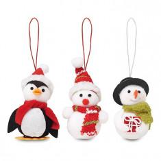 Set 3 decoratiuni de Craciun Snowies CDT-CX1411-00 - Ornamente Craciun