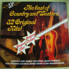 32 ORIGINAL HITS - Country And Western - Vinil 2 LP Original West Germany