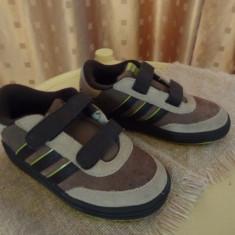 ADIDAS pantofi sport baieti, din piele intoarsa - Adidasi copii, Marime: 27, Culoare: Bej