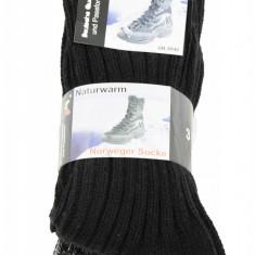 Set 3 perechi de sosete multicolore din lana tricotate pentru barbati, Naturwarm