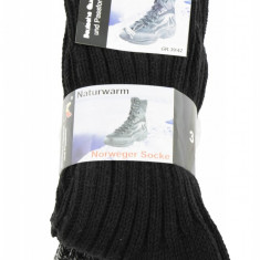Set 3 perechi de sosete multicolore din lana tricotate pentru barbati, Naturwarm - Sosete barbati