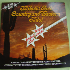 32 Super Gold Country And Western Hits - Vinil 2 LP Original West Germany - Muzica Country