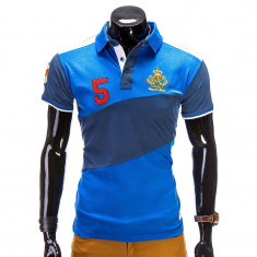 Tricou polo barbati S506 albastru - Tricou barbati, Marime: S, M, Maneca scurta, Bumbac