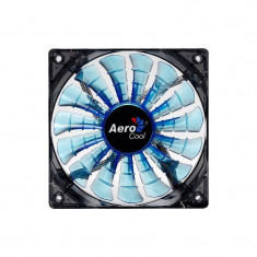 Ventilator Aerocool Shark Blue Edition LED 140 mm