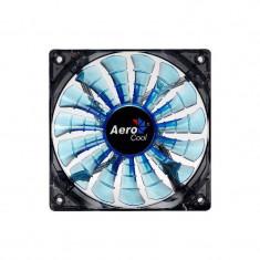 Ventilator Aerocool Shark Blue Edition LED 140 mm - Cooler PC