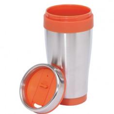 Cana termos inox Lungo argintiu - portocaliu