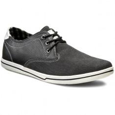 Sneakers Gino Lanetii negri ieftini - Tenisi barbati, Marime: 42, Culoare: Negru