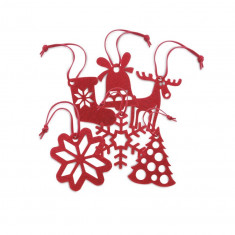 Ornamente pentru bradul de Craciun - Set 6 bucati - Ornamente Craciun