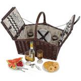 Cos picnic pentru 4 persoane Richmond Park - Vesela camping Alexer, Set vesela