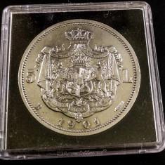 5 lei 1901 - Moneda Romania, Argint