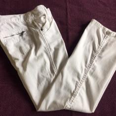 Pantaloni dama ARMANI JEANS, mas. 28, Culoare: Alb, Lungi, Bumbac