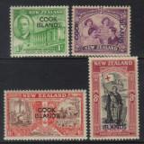 Cook Isl 1946 colonii regele George VI supratipar - serie nestampilata MLH