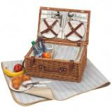 Cos picnic pentru 4 persoane Madison Park - Vesela camping Alexer, Set vesela