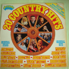 COUNTRY HITS - Vinil LP Original West Germany - Muzica Country