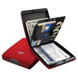 Portofel aluminiu mat rosu Tru Virtu Money & Cards - Silk Line - Portofel Barbati, Port card